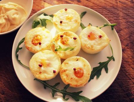 morning breakfast: Eggs breakfast cups