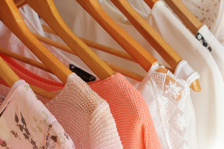 collection of women's clothes 写真素材