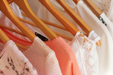 collection of women's clothes Foto de archivo