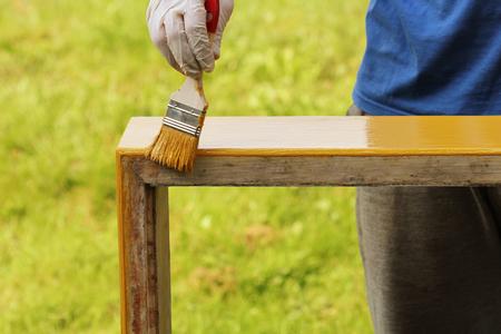 sanding block: Painting wood furniture