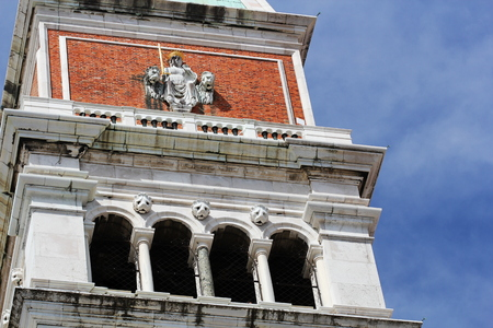Fragment of Campanile, St. Mark Square, Venice, Italy
