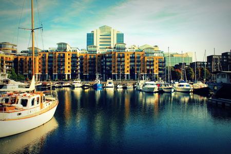 katherine: St Katharine dock in London, United Kingdom Stock Photo