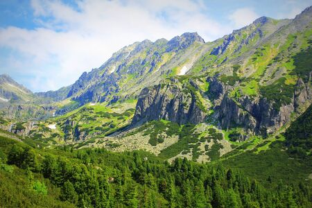 Rocky mountains view in High Tatras, Slovakia