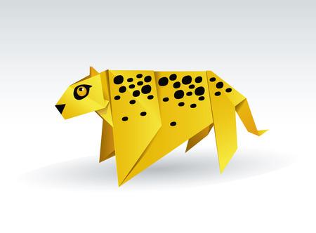 Оригами леопарда