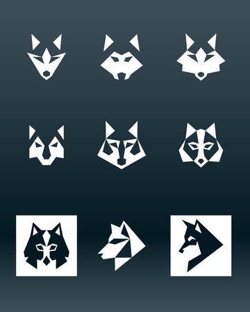 wolf face: Wolf icon Illustration
