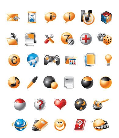 telephone icons: Illustration of cute icons for mobile telephone Illustration
