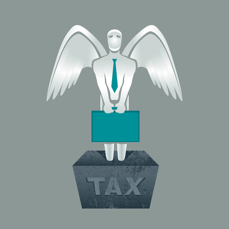 obligation: Illustration of tax obligation man with briefcase