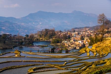 yuanyang: Hani Rice Terraces, Yuanyang, China Stock Photo