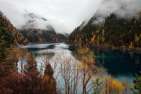 fairyland: Jiuzhaigou National Park,Chengdu, China Stock Photo