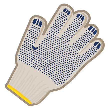 rubber glove: A glove for work in the vegetable garden vector illustration