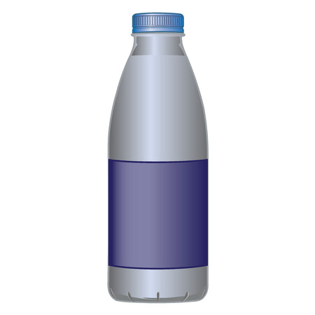 milk bottle: PET bottle dairy product for milk and liquids vector illustration