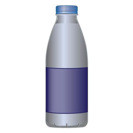 bottles: PET bottle dairy product for milk and liquids vector illustration