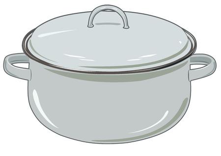 Vector nieuwe pan voor keuken vector iilustration Stock Illustratie