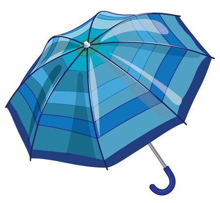 parasol: Vector blue sun parasol umbrella against rain