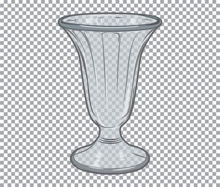 flower vase: Vector empty glass flower vase isolated on transparent