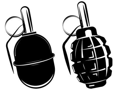 lanzamiento de bala: granada de mano, explosión de una bomba, arma del ejército armas