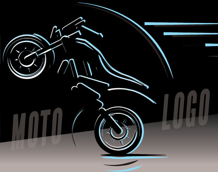 Motorcycle logo illustration, motocross freestyle