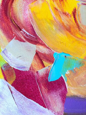 Multicolored abstract acrylic background. Art therapy.