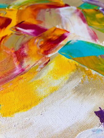 Multicolored abstract acrylic background. Art therapy. Trendy color. 写真素材