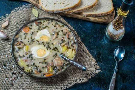 Zurek - polish easter soup with eggs