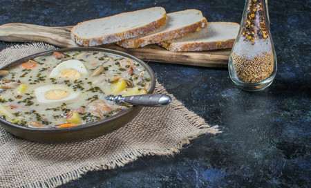 Zurek - polish easter soup with eggs and white sausage