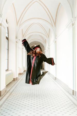 Portrait of graduating student girl of the university