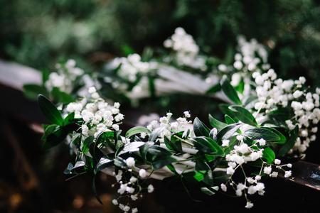 beautiful white flowering wreath