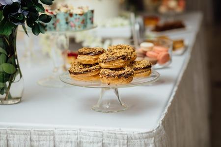 stylish luxury decorated orange candy bar for the celebration of