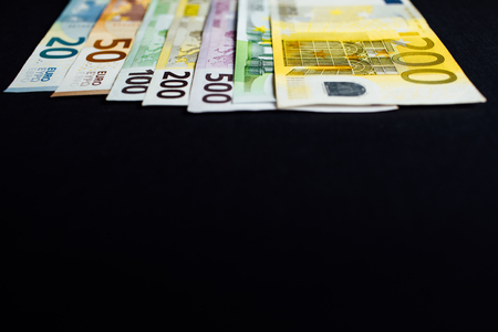 Background of the money. Euro and Dollar. Stock Photo
