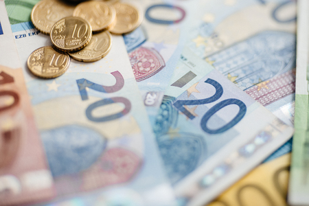 Euro Money. euro cash background. Euro Banknotes