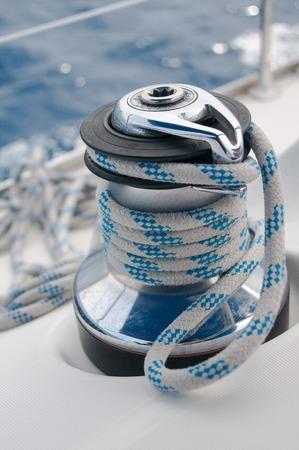 winch: winch on a yacht