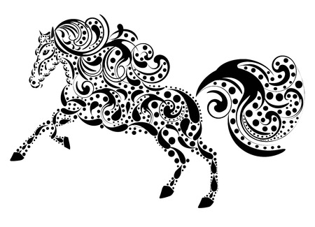hoofs: horse from a pattern Illustration