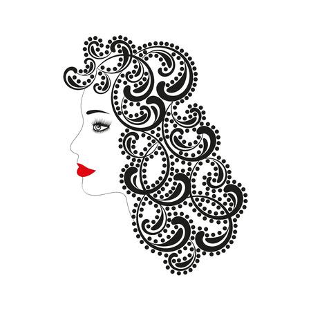 hair do: silhouette of girl