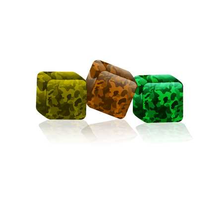 flowed: an icon is a cube of khaki