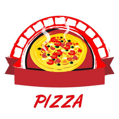 salts: a label is pizza Illustration