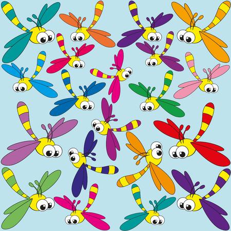 mosca caricatura: Ilustraci�n del drag�n de dibujos animados mosca