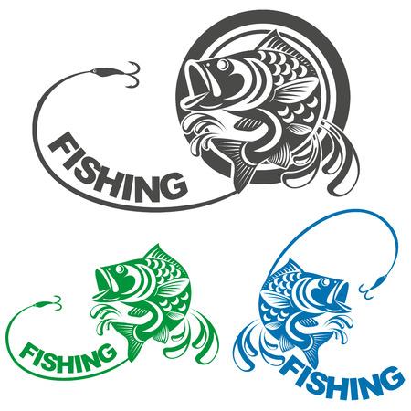 an icon fishing Stock Illustratie