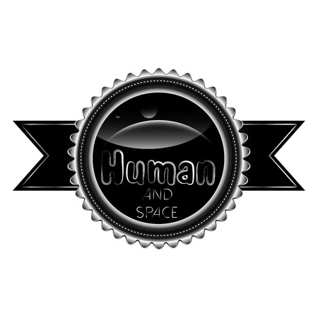 heading the ball: Human and space badge