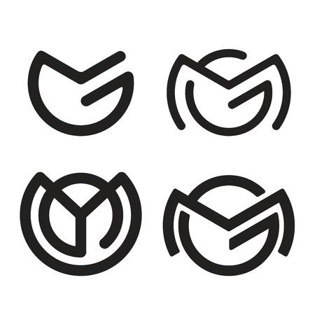 letter alphabet: M G icon