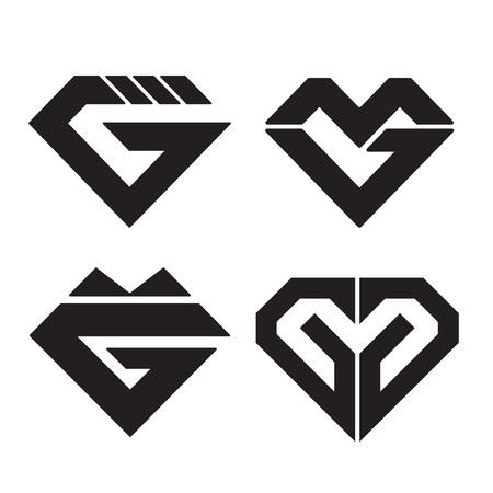 letter g: diamond icon