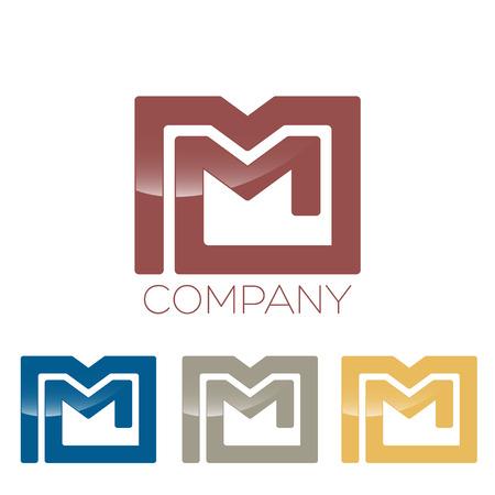 m: letter M icon