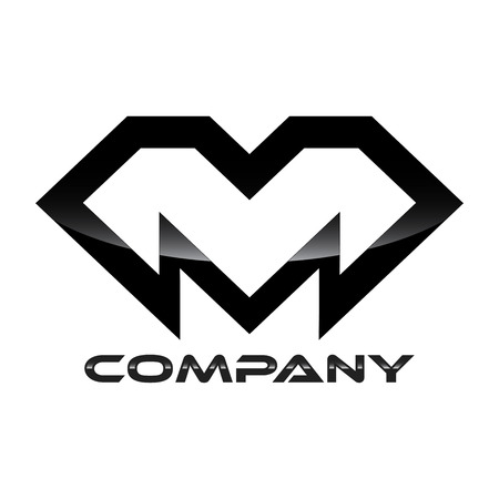 m: luxury M logo Illustration