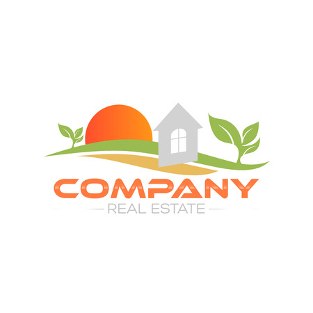 real estate logo Ilustracja