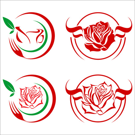 abstract food: rose icon