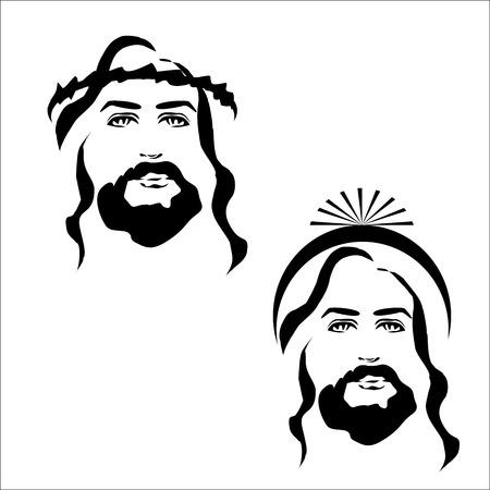 jesus face: Jesus icon Illustration