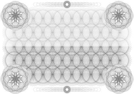 diploma: Certificado. Vector patrón que se utiliza en moneda y diplomas