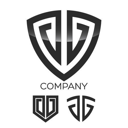 Schild und G-Symbol Standard-Bild - 48762061