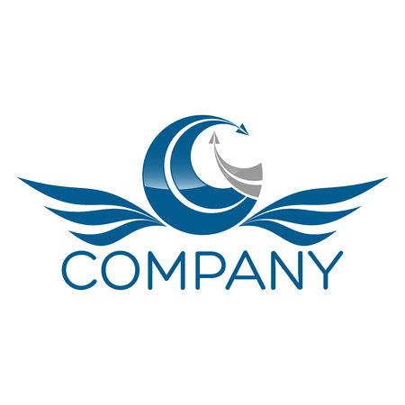 logotipo turismo: G y icono de un avión