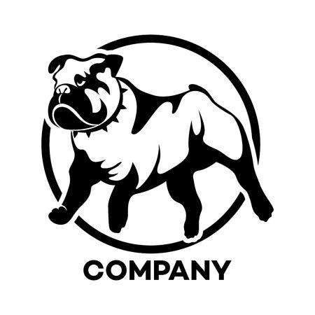 El icono de la raza de perro Bulldog Inglés