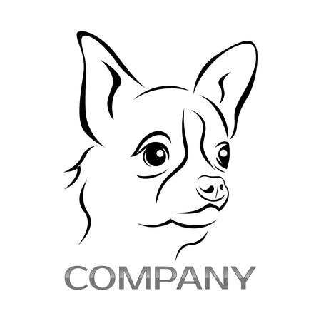 Chihuahua dog icon Illustration